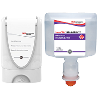 Image link to buy SC Johnson Refresh hand sanitizer dispensers and refills